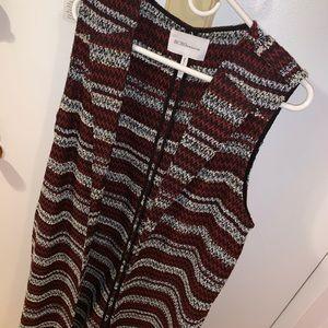 BCBG long sparkly wool vest